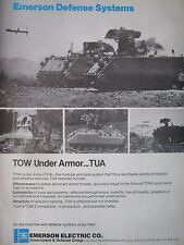 3/1982 PUB EMERSON DEFENSE SYSTEMS TUA TOW UNDER ARMOR ANTI TANK SYSTEM AD