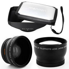 52mm 16:9 Hood,Wide Angle,Tele Lens for Panasonic Lumix DMC-G1,GH1,GF1,G10,G2,US