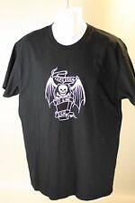 Mens Black Short Sleeved Tattoo Monster Ink Grave Casket Skull T Shirt Size L