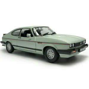 1:24 Vintage Ford Capri Coupe 1982 Model Car Metal Diecast Collection Gift Green