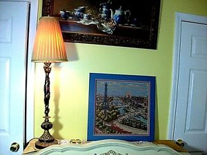 Arc Triomphe Élysées Eiffel Tower Paris France City SUPERB Vintage Wall Tapestry