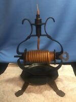 vintage wrought iron  candle holder for continues rope candle