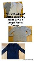 Women's Clothes Lot Tops & Sweater Size Large