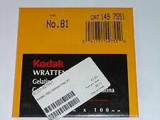 Kodak WRATTEN FILTRI GELATINA 100mmx100mm n. 81