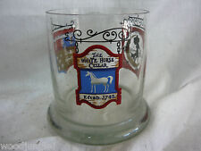 Vintage THE WHITE HORSE CELLAR SCOTCH WHISKY GLASS WHISKEY  NICE!