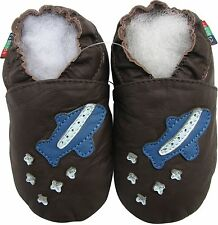shoeszoo soft leather baby shoes space shuttle dark brown 0-6m S