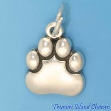 BEAR OR DOG PAW PRINT .925 Sterling Silver Charm Pendant MADE IN USA