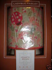 New Kenneth Brown Ladybug Paisley Lamp Base & Shade