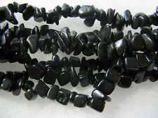 BlackStone Gemstone Beads Chips Jewelry Findings 12 inch Strand