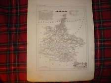 1835 ANTIQUE ARDENNES CHARLESVILLE MEZIERES FRANCE MAP