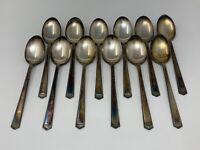 1847 Rogers Bros Silver plate oval Soup Spoon Anniversary Set of 12 IS