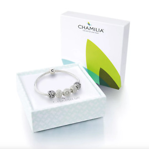 Chamilia Sterling Silver Five Bead Bracelet **GENUINE AND NEW** RRP-£300