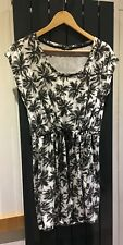 Black & White Summer Dress  Beach Cover Up  Size Small
