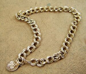 """Lightweight Gold-Colored Metal Vintage CHAIN BELT with Large Double Links, 36"""""""