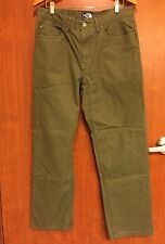"☀The North Face Mens 34 X 31.75"" L☀Olive Green Outdoor Hiking Pants Jeans"