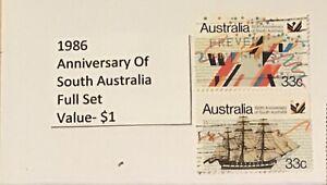 Australian Postage Stamp Used (1986) Anniversary of South Australia