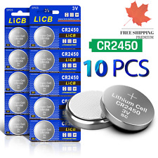 LiCB 10 PCS cr 2450 3V Lithium Battery CR2450 Cell Battery ?? FAST & FREE