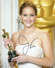 Jennifer Lawrence Signed Academy Award 10x8 Photo AFTAL