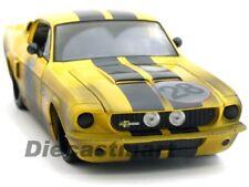 Jada 1 18 1967 Shelby Mustang Gt500 Course #28 Jaune Modèle Moulé Nouveau 90324