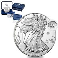 2020-W End of WWII V75 Privy Proof Silver Eagle IN SEALED MINT BOX
