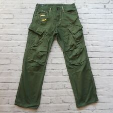 Gstar Raw Cargo Pants Jeans Size 32 Green Straight
