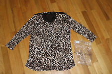 FREDERICK'S OF HOOLYWOOD TOP  LONG SLEEVE SIZE M  RAYON/SPANDEX   NEW WITH TAGS