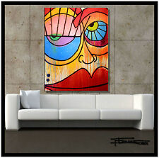 Direct from Artist ABSTRACT MODERN CANVAS PAINTING Large WALL ART USA ELOISExxx