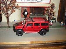 RARE CUSTOM Lifted 4x4 Off Road Hummer H2 Toy SUV 1:24 Red w Black Mags FREE SH