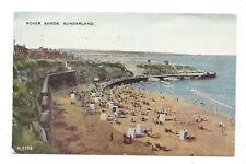 Vintage postcard Roker Sands, Sunderland, Slogan pmk 'Postage, Europe 4d' 1953