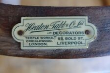 Antique Chair Heaton Tabb Co Ltd Liverpool Temple Works Cricklewood London Rare