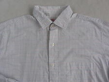 Brooks Brothers Men's Cotton L/S Button Down White Checkered Dress Shirt - 16-5
