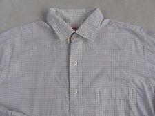 Brooks Brothers Men's Cotton L/S Button Down White Checkered Dress Shirt - 16-5