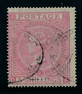 GB 1867 SG 126 plate 2 fine used cat. £1500