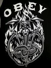 obey quarter sleeve t shirt for mens large urban skater hip hop