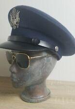 American Optical Command Ao 5 1/2 Vintage Gold Aviator Pilot Sunglasses Nam Era