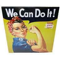 Jigsaw puzzle American History We Can Do It Rosie Riveter 1000 pie NEW made USA