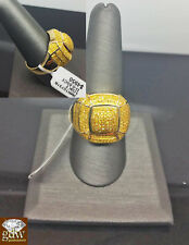 Real 10k Yellow Gold Yellow diamond Men's Ring,Canary Diamond,Pinkey Ring,casual