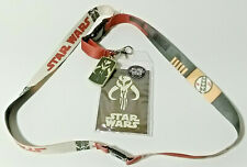 Boba Fett Star Wars Deluxe Lanyard w Rubber Charm & ID Card-Licensed
