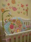 7PCS Girls Baby Bedding Set Nursery Embroidery Quilt Bumper Infant Crib Skirt