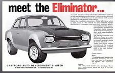 Crayford Ford Escort Eliminator & Clubman Racer Early 1970s UK Leaflet Brochure
