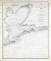 1885 Nautical Map of Galveston Bay Texas