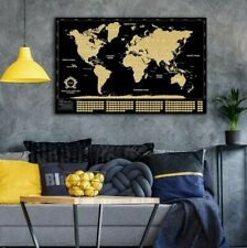 Scratch Off World Map Poster Black Gold Travel Map Of The World Gift Accessories