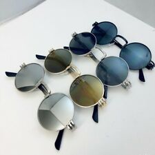Retro Round Steampunk Sunglasses Men Women Metal Side Shield IN Many Nice Colour
