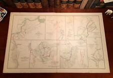 Large Original Antique Civil War Map Sherman's ATLANTA CAMPAIGN Georgia GA