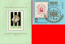 HUNGARY 1961 84 composer FRANZ LISZT x2 s/s MNH MUSIC, ART, STAMP on stamp