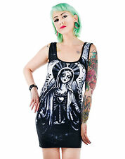 Too Fast Zombie Mary Religious Catholic Horror Black Bettie Bodycon Mini Dress
