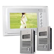 Farb Video Sprechanlage Türsprechanlage 1 Monitor 2 Kameras Infrarot Nachtsicht