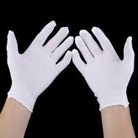 6 Paires de gants blancs en coton douce bijoux gants de travail d'inspect-3