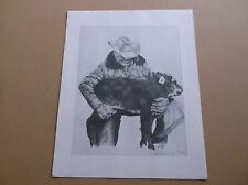 "James Reinhardt Cowboy,Western Art Print,""Cowboy with Calf"" Signed and Numbered"