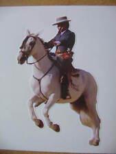 STICKER cheval , autocollant photo ,féria (CAVALIER ) 11 cm ,contourné ,corrida.